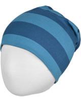 Maxomorra Mütze Beanie Streifen stripe/midnight GOTS M521-C3368