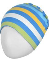 Maxomorra Mütze Beanie Streifen stripe/ocean GOTS M521-C3350