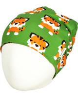 Maxomorra Hat Beanie TANGERINE TIGER green GOTS M544-C3338