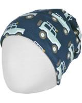Maxomorra Mütze m. Velours-Futter JEEP ABENTEUER blau M483-D3273 GOTS