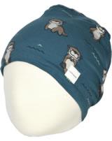 Maxomorra Mütze m. Velours-Futter OTTER blau M483-D3281 GOTS