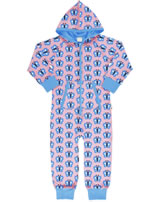 Maxomorra Onepiece with hood BLUEWING BUTTERFLY pink GOTS M209-C3341