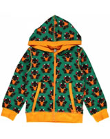Maxomorra Sweat-Jacke Hoodie DRACHE  grün/orange P7AU-S035-D3052 GOTS