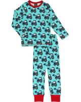 Maxomorra Pyjama lang CLASSIC TRACTOR blau C3386-M344 GOTS