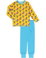 Maxomorra Pyjama lang KAMEL KARAWANE gelb/blau GOTS M437-C3336