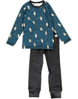 Maxomorra Pyjama lang OTTER blau M437-D3281 GOTS