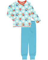 Maxomorra Pyjama set long PARROT SAFARI blue GOTS M437-C3340
