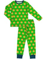 Maxomorra Pyjama lang TIGER grün/orange SP17-M090-D093 GOTS
