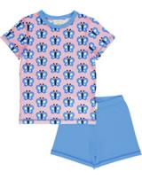 Maxomorra Pyjama short BLUEWING BUTTERFLY pink GOTS M439-C3341