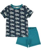 Maxomorra Pyjama Schlafanzug kurz JEEP ABENTEUER blau M439-D3273 GOTS