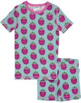Maxomorra Pyjama Schlafanzug kurz Slim HIMBEERE pale blue M428-D3215 GOTS