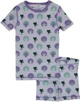 Maxomorra Pyjama Schlafanzug kurz Slim PARK lila M428-D3212 GOTS
