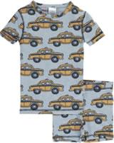 Maxomorra Pyjama Schlafanzug kurz Slim TAXI grau M428-D3226 GOTS