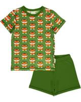 Maxomorra Pyjama short TANGERINE TIGER green GOTS M439-C3338