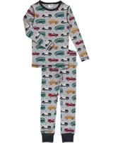 Maxomorra Pyjama Schlafanzug lang Slim VERKEHR grau/schwarz M429-D3210 GOTS