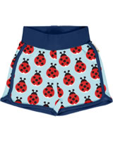 Maxomorra Runner Shorts LAZY LADYBUG blau GOTS M530-C3344