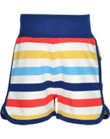 Maxomorra Runner Shorts STRIPE MILK bunt GOTS M535-C3353