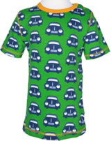 Maxomorra T-Shirt Kurzarm RETRO CAR grün/blau/orange SP6B-M145-D1038 GOTS