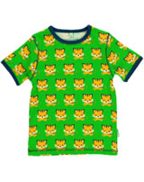 Maxomorra T-Shirt Kurzarm TIGER grün/orange SP17-M145-D093 GOTS