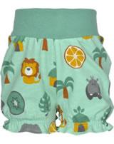 Maxomorra Shorts mit Bund DSCHUNGEL grün/gelb M374-D3230 GOTS