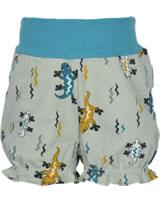 Maxomorra Shorts mit Bund EIDECHSE beige/blau M374-D3242 GOTS