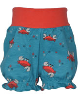 Maxomorra Shorts Rib CRAB blue/red M374-D3244 GOTS