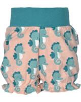 Maxomorra Shorts mit Bund SEEPFERDCHEN blau/rosa M374-D3235 GOTS