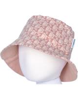 Maxomorra Sonnenhut mit Krempe FISCHE rosa M378-D3241 GOTS