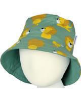 Maxomorra Chapeau LION vert/jaune M378-D3230 GOTS