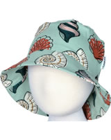 Maxomorra Hat Sun SEASHELL blue/red M378-D3249 GOTS