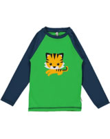 Maxomorra Raglan-Shirt Langarm TIGER blau/grün/orange SP17-M238-D093 GOTS