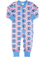 Maxomorra Rompersuit BLUEWING BUTTERFLY pink GOTS M477-C3341