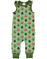Maxomorra Rompersuit BUSY SQUIRREL green M475-D3267 GOTS