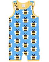 Maxomorra Strampler Spieler HUMBLE BUMBLEBEE blau GOTS M377-C3343