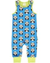 Maxomorra Strampler Spieler PANDA blau/grün GOTS M475-C3335