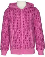 Maxomorra Sweat-Jacke Hood MARIENKÄFER rose pink M339-D3221 GOTS