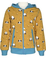 Maxomorra Sweat-Jacke Hood MAULWURF gelb/blau M339-D3224 GOTS
