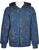 Maxomorra Cardigan Hood ANCHOR blue/red M339-D3248 GOTS