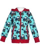 Maxomorra Sweat-Jacke Hoodie CLASSIC TRACTOR blau C3386-M472 GOTS