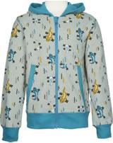 Maxomorra Sweat-veste LIZARD beige/bleu M339-D3242 GOTS