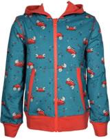 Maxomorra Sweat-Jacke Hoodie KREBS blau/rot M339-D3244 GOTS
