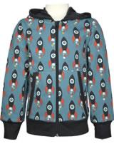 Maxomorra Sweat-Jacke Hoodie MOON ROCKET blau/grau M472-D3277 GOTS
