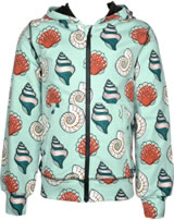 Maxomorra Cardigan Hood SEASHELL blue/red M339-D3249 GOTS