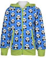 Maxomorra Sweat-Jacke Hoodie PANDA blau/grün GOTS M472-C3335