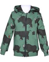 Maxomorra Sweat-Jacke Hoodie RHINO grün/grau M339-D3246 GOTS