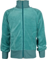 Maxomorra Sweat-Jacke mit Kragen Velour UNI artic blue M445-D3309 GOTS