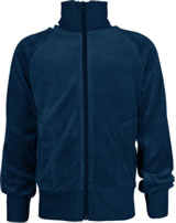 Maxomorra Sweat-Jacke mit Kragen Velour UNI midnight M445-D3308 GOTS