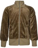 Maxomorra Sweat-Jacke mit Kragen Velour UNI mole M445-D3302 GOTS