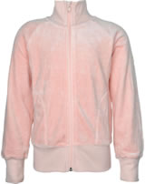 Maxomorra Sweat-Jacke mit Kragen Velour UNI pale blush M445-D3304 GOTS