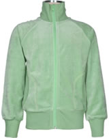 Maxomorra Sweat-Jacke mit Kragen Velour UNI soft teal M445-D3303